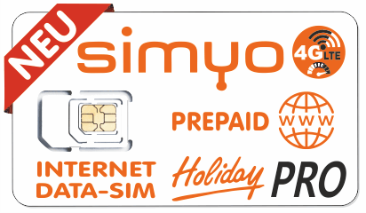 SIMYO PREPAID DATA SIM HOLIDAY PRO